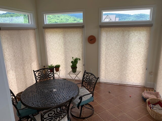 Dining room window shades in Madison, VA from Early's Flooring Specialists & More