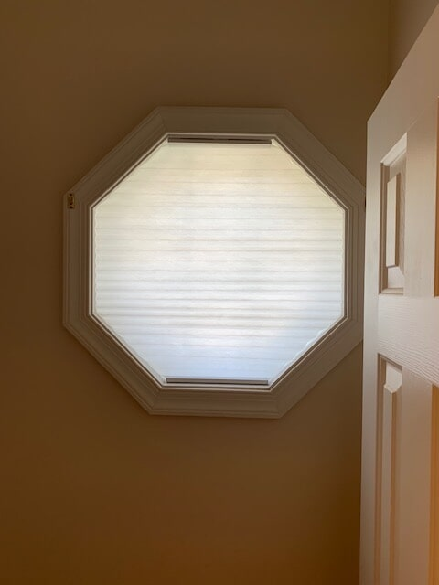 Custom shape window shades in Amissville, VA from Early's Flooring Specialists & More