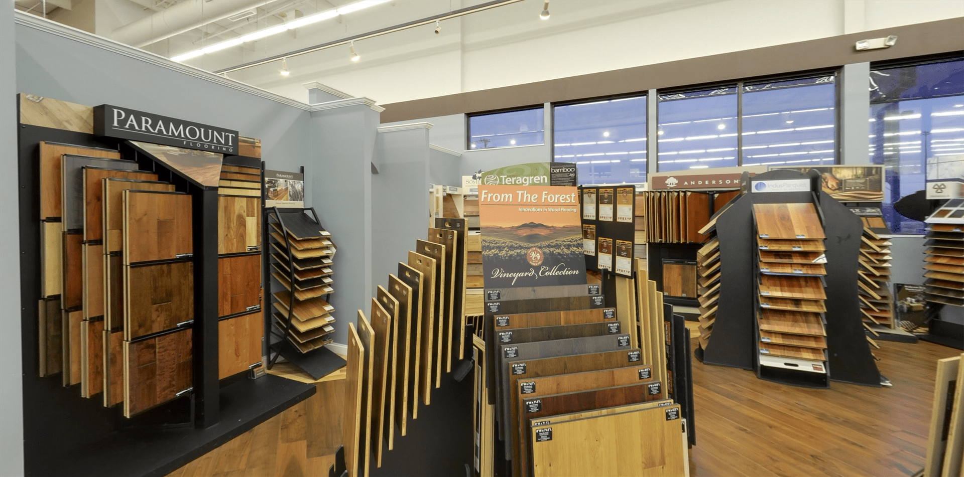 From The Forest hardwood for your Iowa business from Hiller Stores