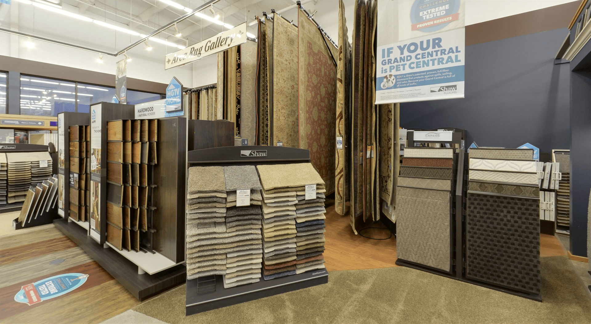 Choose from our area rug gallery for your Iowa business from Hiller Stores