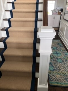 Classic stair runners in Old Lyme, CT from Westbrook Floor Covering