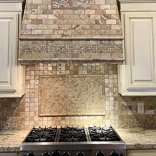 Tile range hood in Port Neches, TX from Odile's Fine Flooring & Design