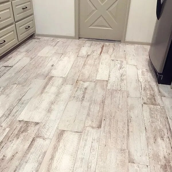 Rustic kitchen flooring in Orange, TX from Odile's Fine Flooring & Design