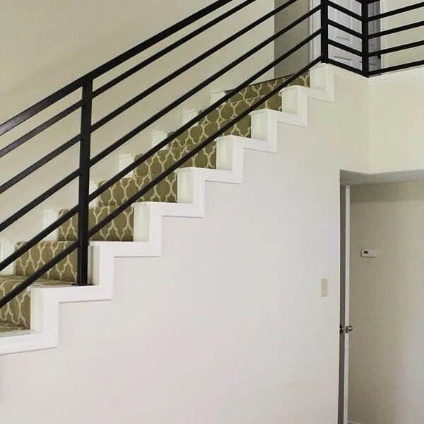 Stair trim installation in Sulphur, LA from Odile's Fine Flooring & Design