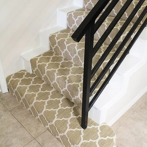 Patterned stair carpet in Sulphur, LA from Odile's Fine Flooring & Design