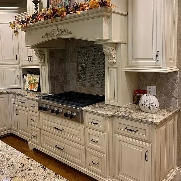 Custom rangetop in Vidor, TX from Odile's Fine Flooring & Design