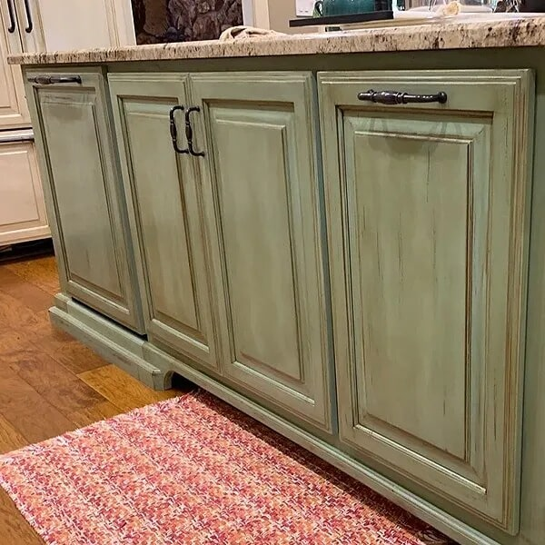 Custom kitchen island in Vidor, TX from Odile's Fine Flooring & Design