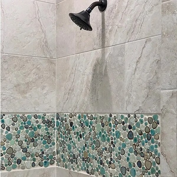 Glass tile and natural stone in Port Arthur, TX from Odile's Fine Flooring & Design