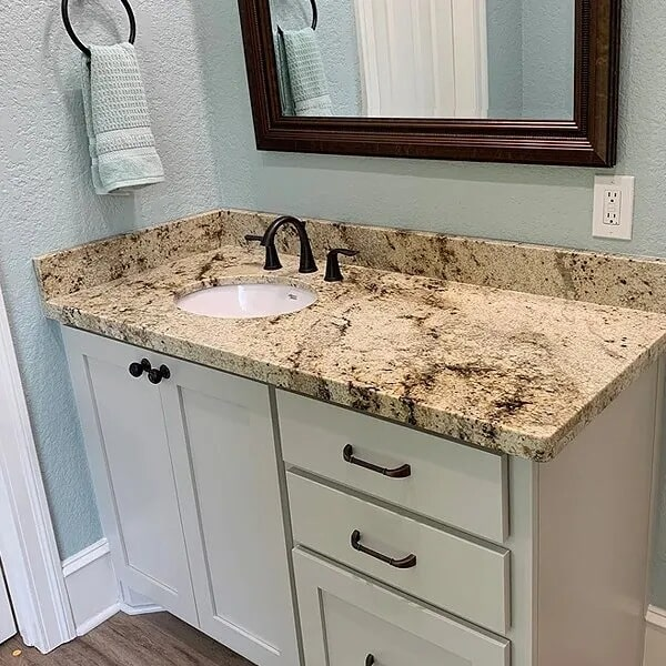Vanity countertop in Beaumont, TX from Odile's Fine Flooring & Design