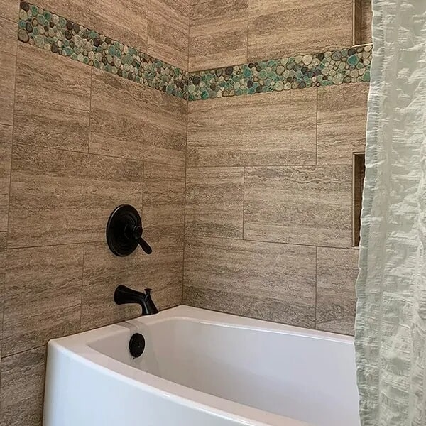 Bathroom remodel in Port Neches, TX from Odile's Fine Flooring & Design