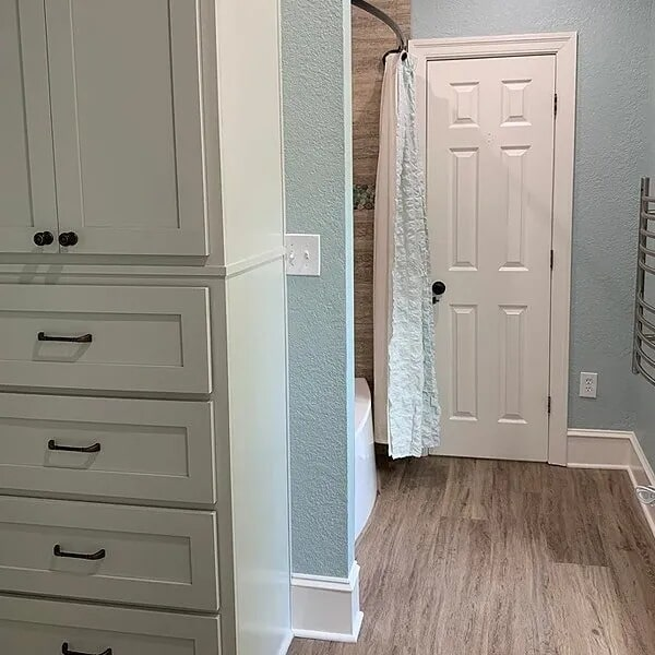 Wood look bathroom flooring in Port Arthur, TX from Odile's Fine Flooring & Design