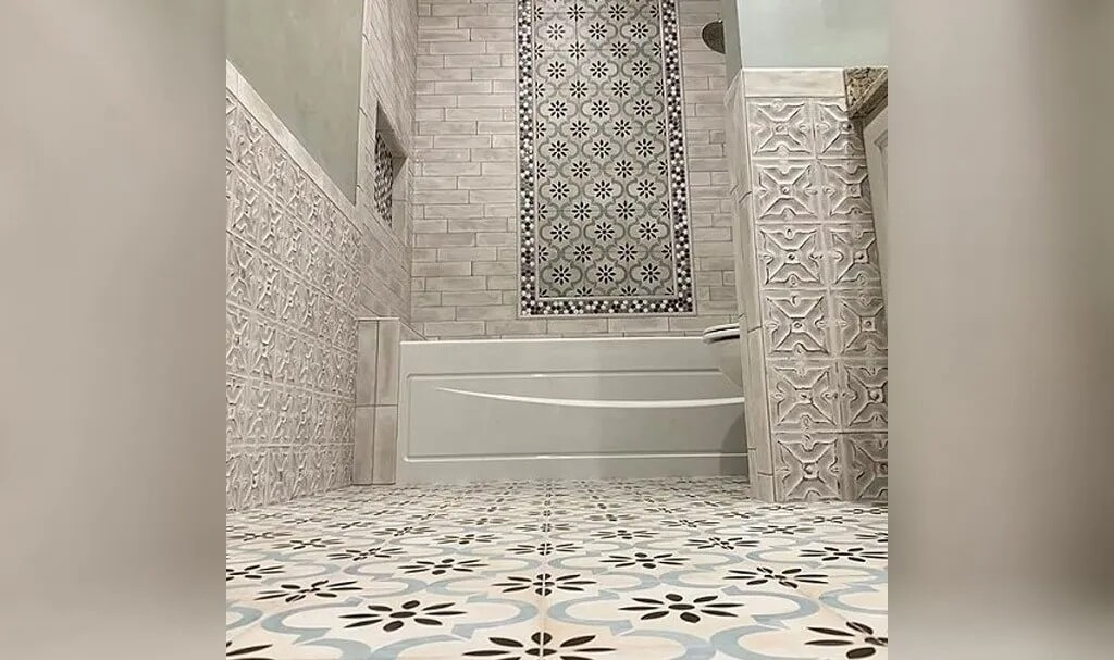 Beautiful bathroom in Sulphur, LA from Odile's Fine Flooring & Design