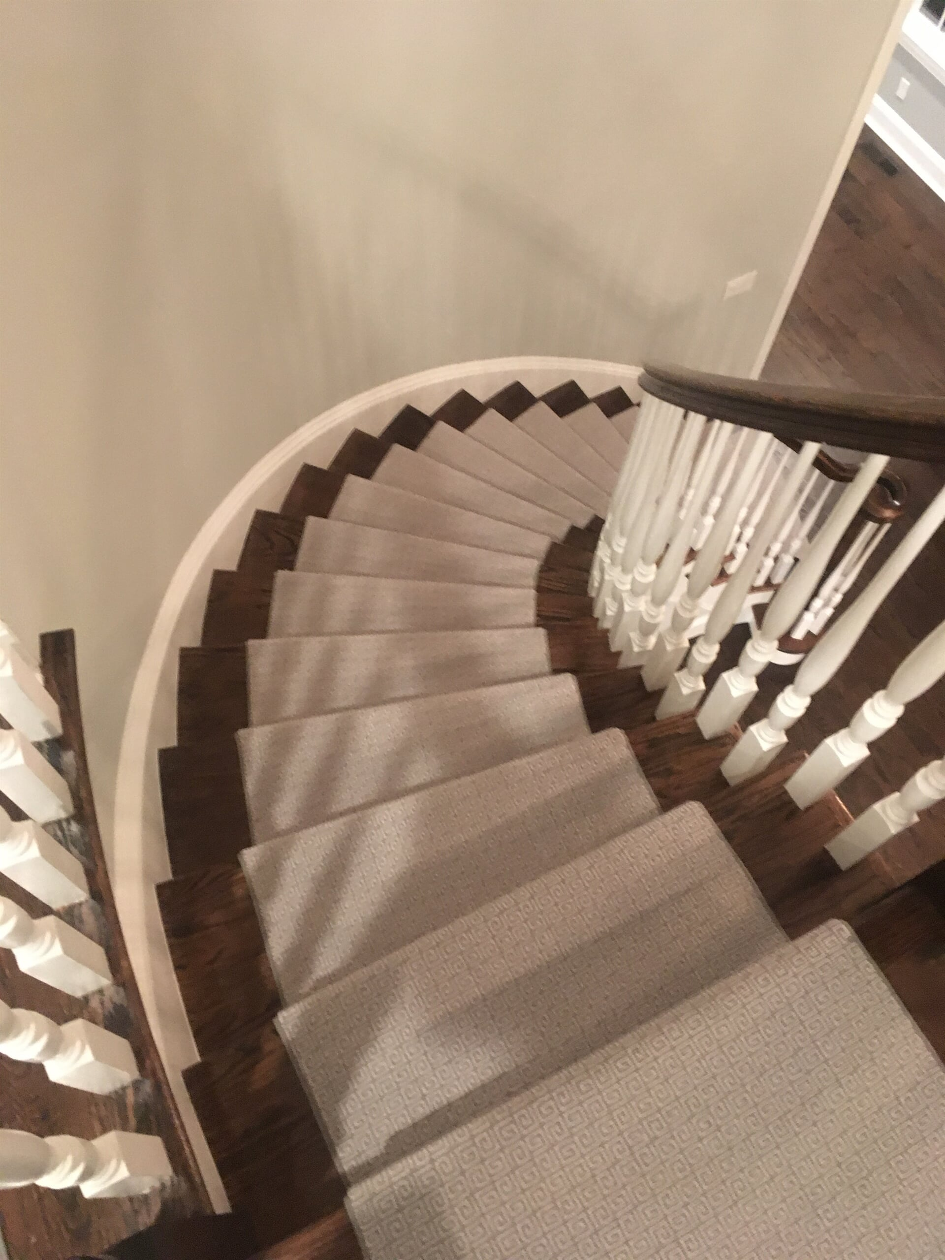 Custom stairway installation in Scarsdale, NY from Carpet Gallery