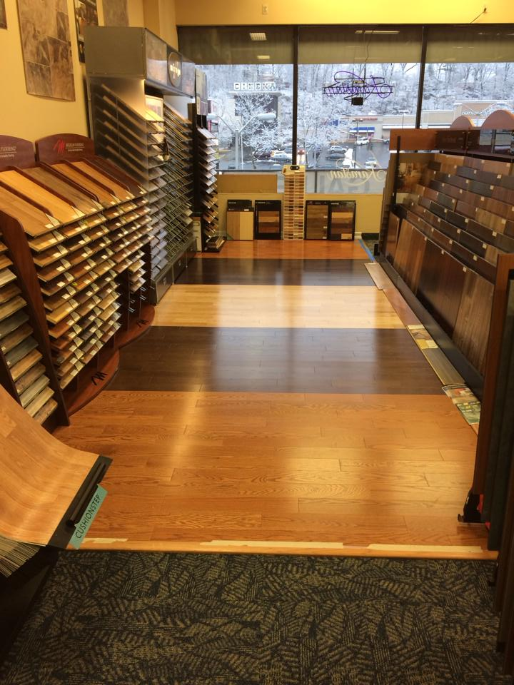 Our flooring options even cover our own floors at our Scarsdale, NY showroom!
