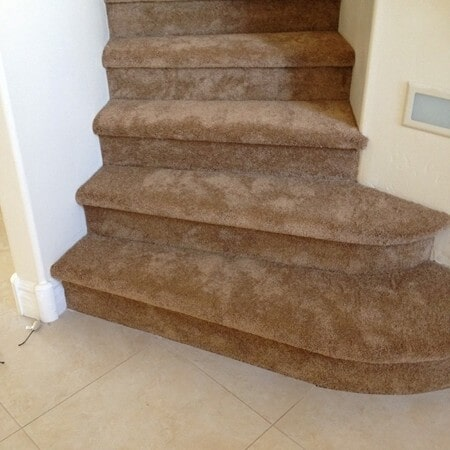 Carpeted stairs in Tempe, AZ from Abel Carpet Tile & Wood