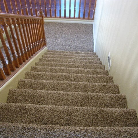 Carpeted stairway in Gilbert, AZ from Abel Carpet Tile & Wood