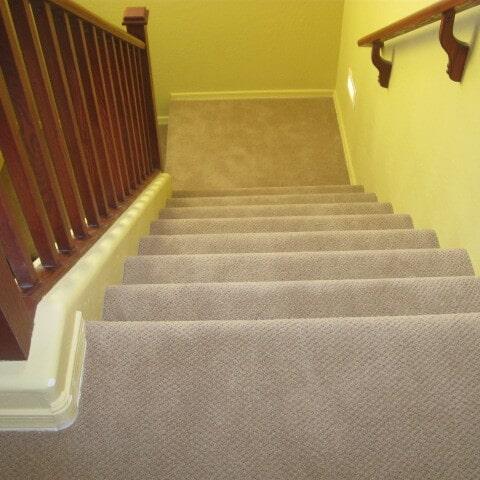 Textured carpet stairway installation in Chandler, AZ from Abel Carpet Tile & Wood