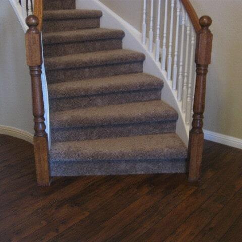 Medium tone carpet stairway in Chandler, AZ from Abel Carpet Tile & Wood