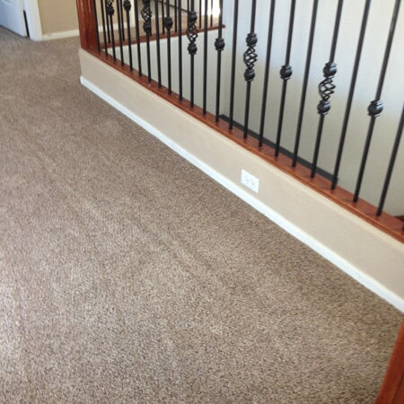 Newly installed carpet in Chandler, AZ from Abel Carpet Tile & Wood