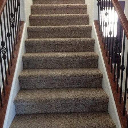 Natural tone stair carpet in Gilbert, AZ from Abel Carpet Tile & Wood