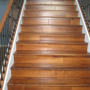 Wood stairs installation in Chandler, AZ from Abel Carpet Tile & Wood