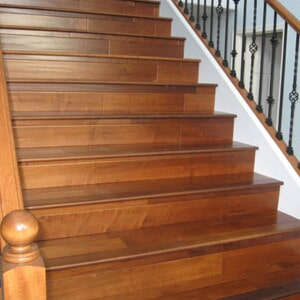 Hardwood stairway in Chandler, AZ from Abel Carpet Tile & Wood