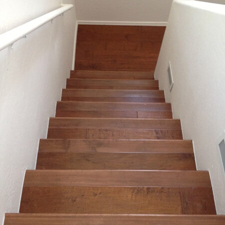 Wood stairway installation in Queen Creek, AZ from Abel Carpet Tile & Wood
