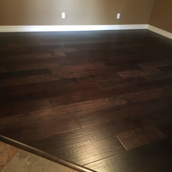 Tile and dark hardwood installation in Gilbert, AZ from Abel Carpet Tile & Wood