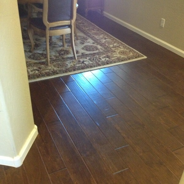 Hardwood and area rug in Chandler, AZ from Abel Carpet Tile & Wood