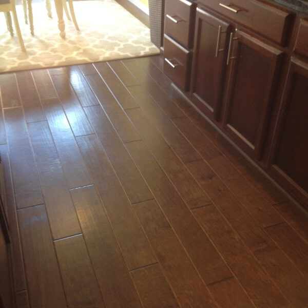 Hardwood kitchen flooring in Gilbert, AZ from Abel Carpet Tile & Wood