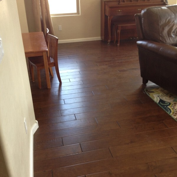 Hardwood living space in Tempe, AZ from Abel Carpet Tile & Wood