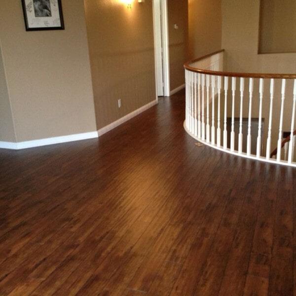Laminate stairway landing in Chandler, AZ from Abel Carpet Tile & Wood