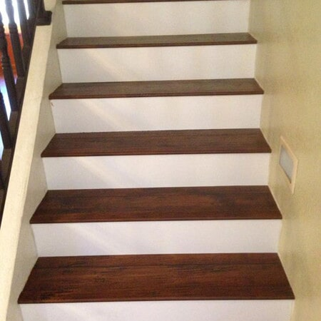 Wood laminate stairs in Queen Creek, AZ from Abel Carpet Tile & Wood