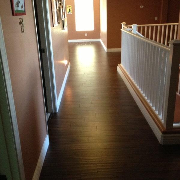 Laminate flooring hallway in Tempe, AZ from Abel Carpet Tile & Wood