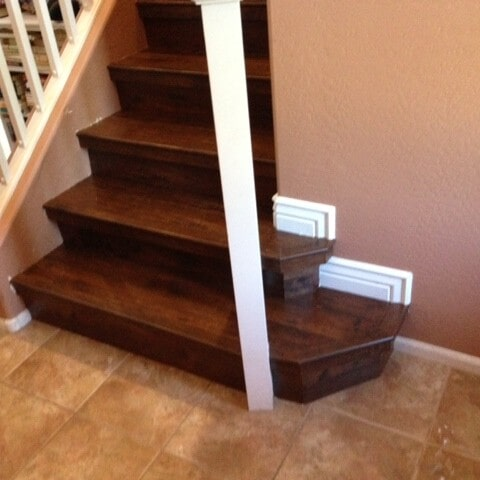 Laminate stairway installation in Gilbert, AZ from Abel Carpet Tile & Wood