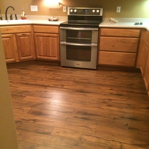 Wood look laminate kitchen in Queen Creek, AZ from Abel Carpet Tile & Wood