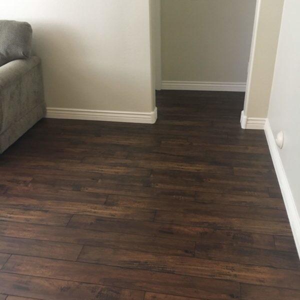 Modern laminate flooring installation in Gilbert, AZ from Abel Carpet Tile & Wood