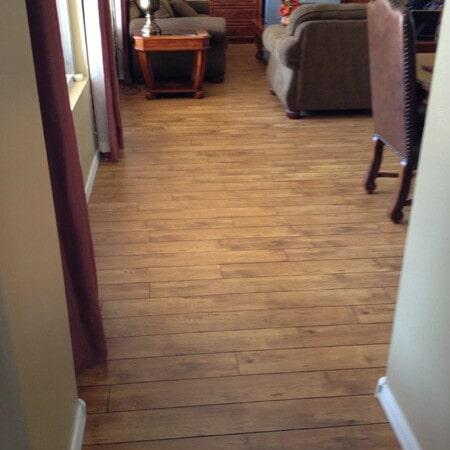 Laminate flooring sitting area in Chandler, AZ from Abel Carpet Tile & Wood