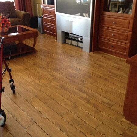 Laminate living room flooring in Gilbert, AZ from Abel Carpet Tile & Wood