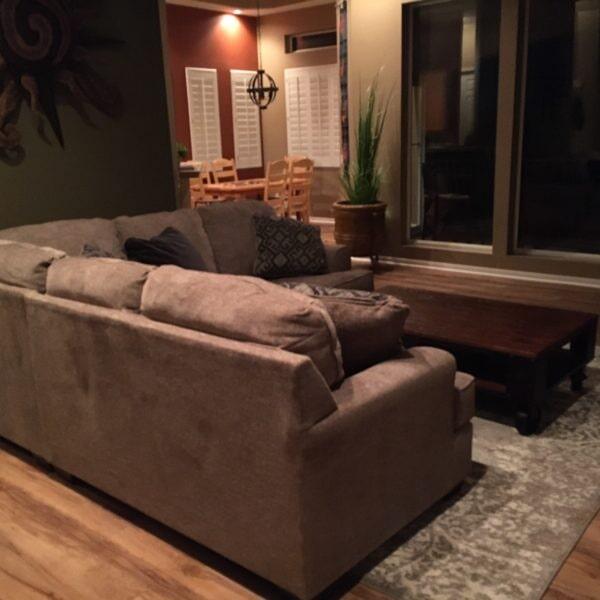 Luxury vinyl flooring living room in Gilbert, AZ from Abel Carpet Tile & Wood