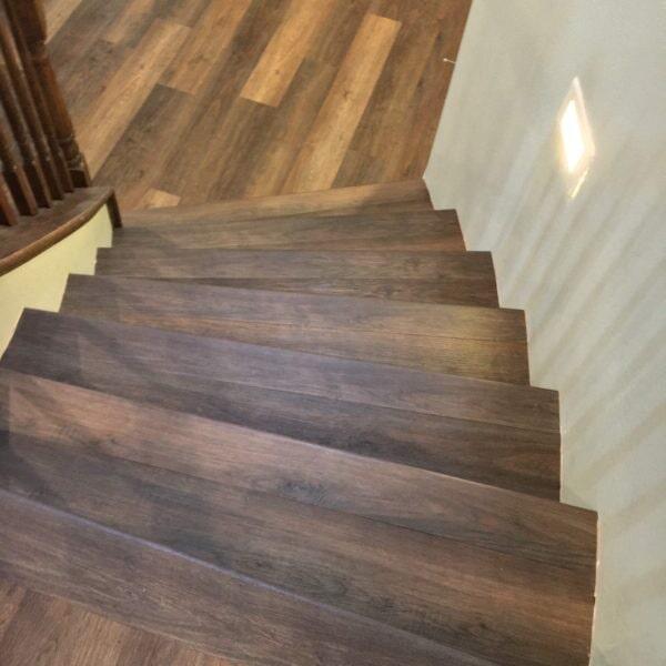 Luxury vinyl stairway in Chandler, AZ from Abel Carpet Tile & Wood