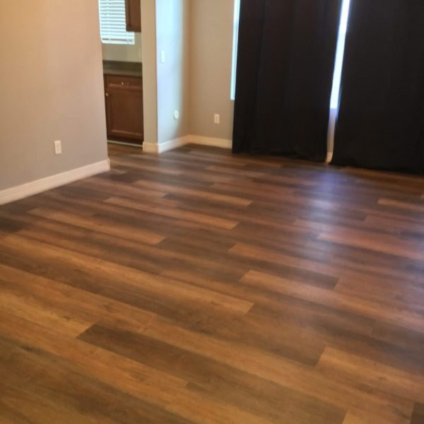 Vinyl plank flooring installation in Gilbert, AZ from Abel Carpet Tile & Wood