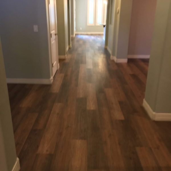 Luxury vinyl flooring hallway in Queen Creek, AZ from Abel Carpet Tile & Wood