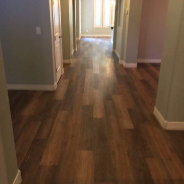Luxury vinyl flooring hallway in Queen Creek, AZ from Abel Carpet Tile & Wood