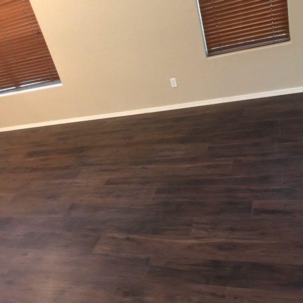 Dark tone luxury vinyl flooring in Chandler, AZ from Abel Carpet Tile & Wood