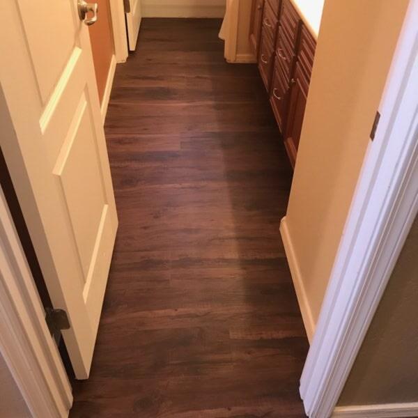 Vinyl plank bathroom in Queen Creek, AZ from Abel Carpet Tile & Wood