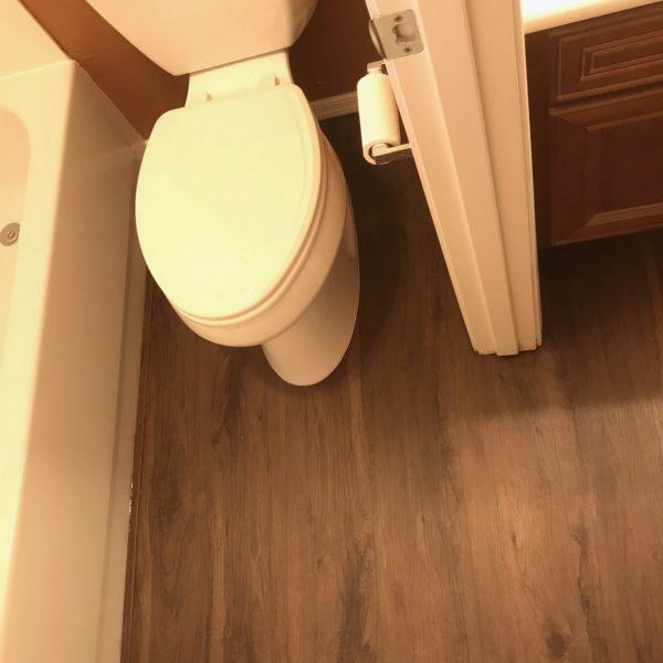 Luxury vinyl bathroom flooring in Tempe, AZ from Abel Carpet Tile & Wood