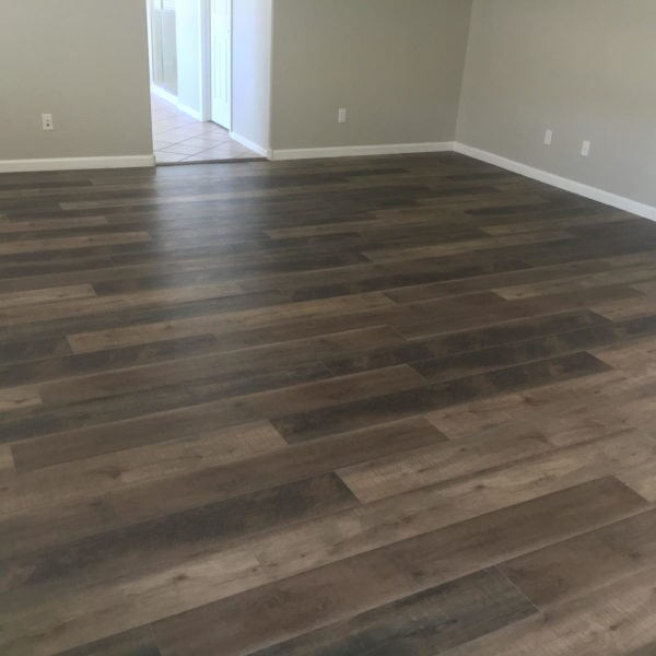 Modern luxury vinyl installation in Chandler, AZ from Abel Carpet Tile & Wood