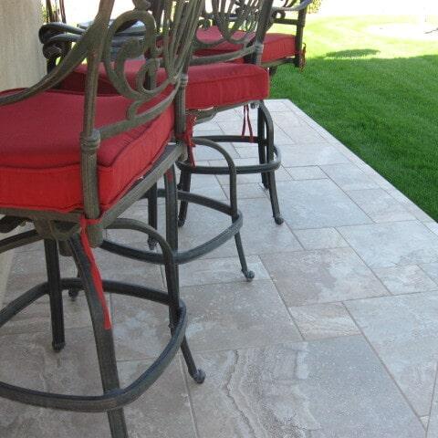 Outdoor tile flooring in Gilbert, AZ from Abel Carpet Tile & Wood
