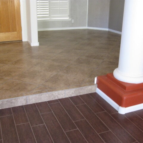 Wood look and classic tile flooring in Tempe, AZ from Abel Carpet Tile & Wood